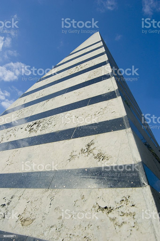 Far reaching pyramid. stock photo