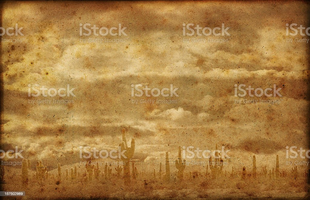 Far West Badlands Grunge Background stock photo