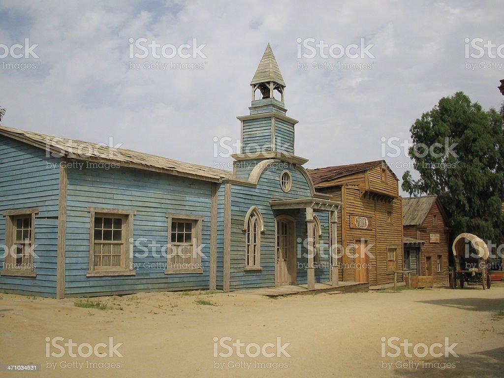 Far west 'Series'- Church royalty-free stock photo