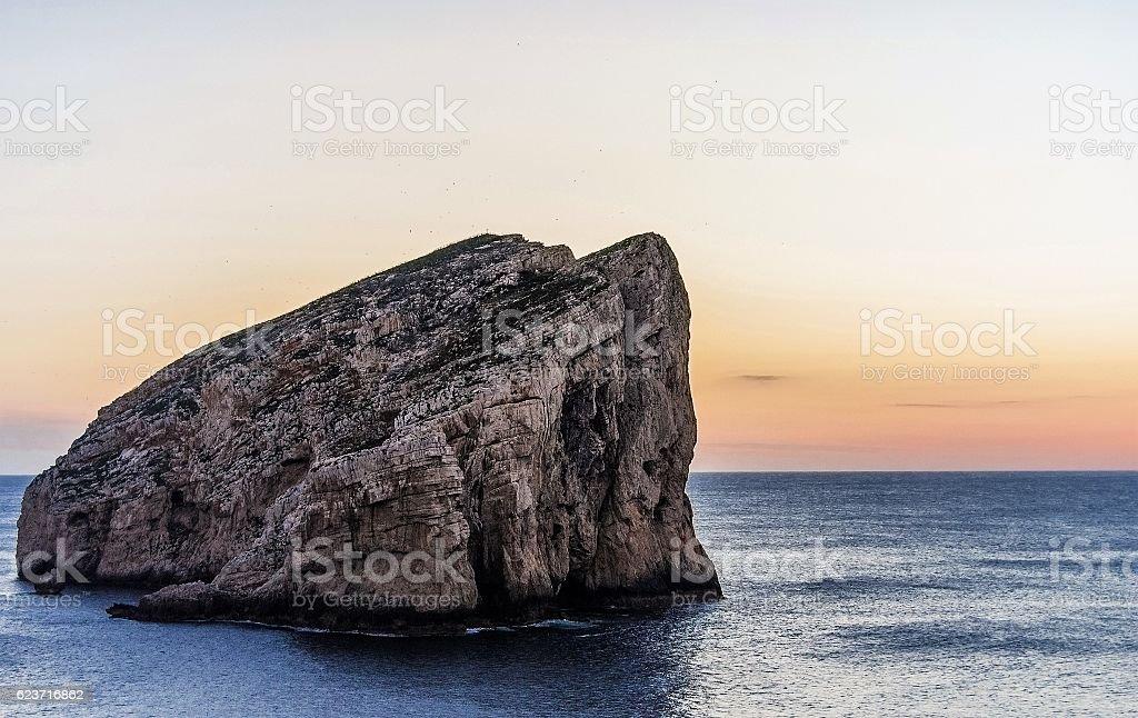 Faraglione di Capo Caccia (Alghero) stock photo