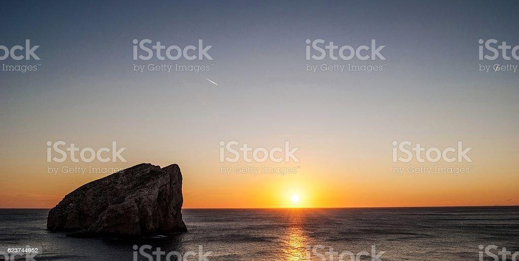 Faraglione di Capo Caccia stock photo