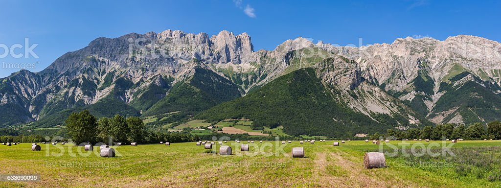 Faraut Mountain at Summer in Hautes Alpes, Southern Alps, France stock photo