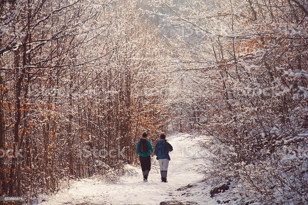 Faraway, in the mountain stock photo