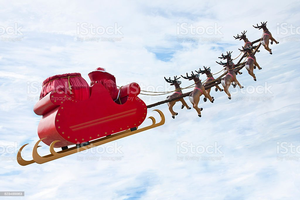 Farewell Santa Claus stock photo