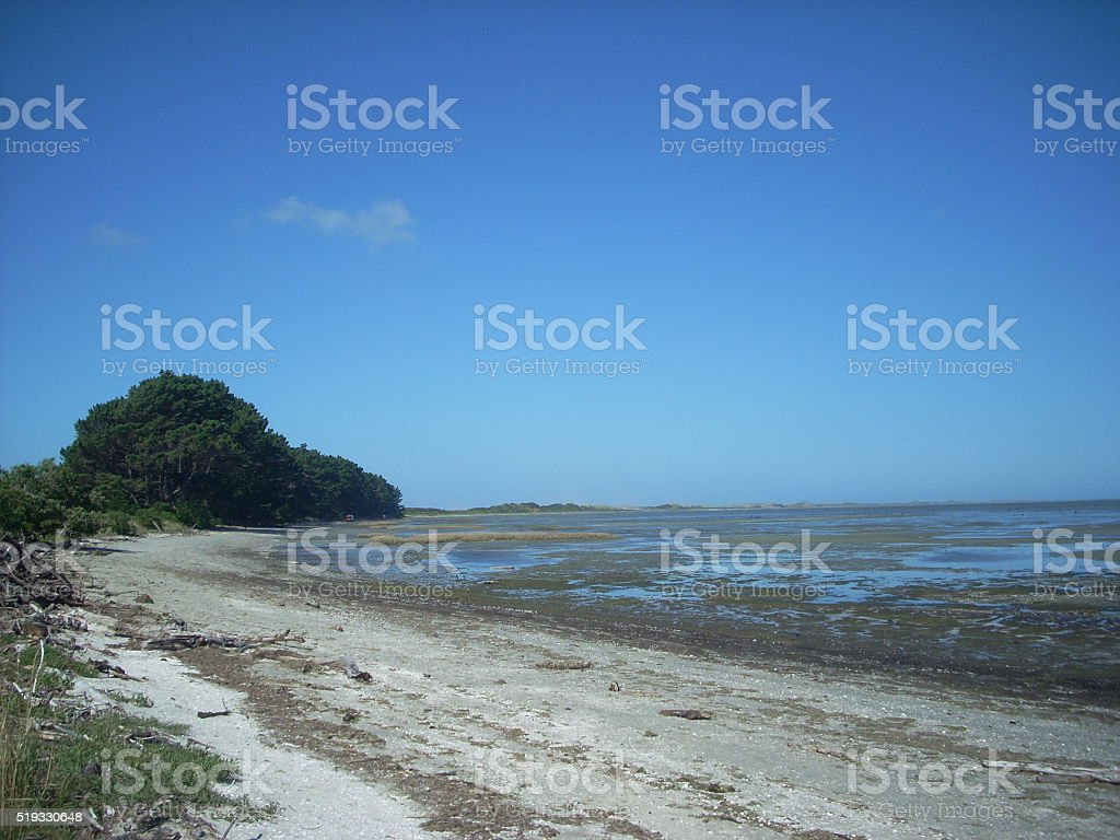 Farewell Spit stock photo