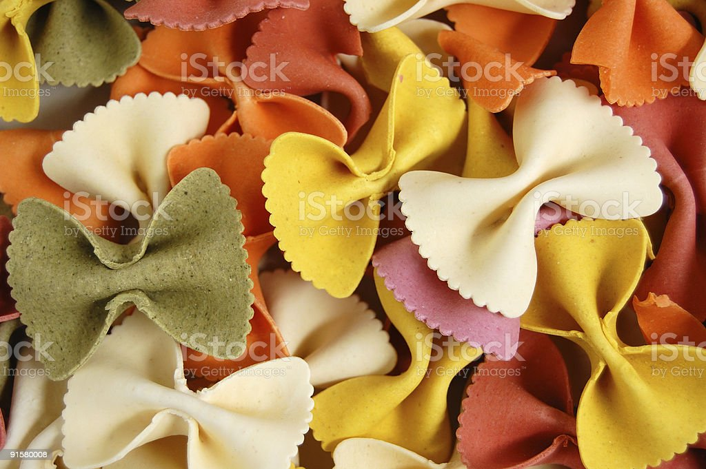 farfalle pasta food background royalty-free stock photo
