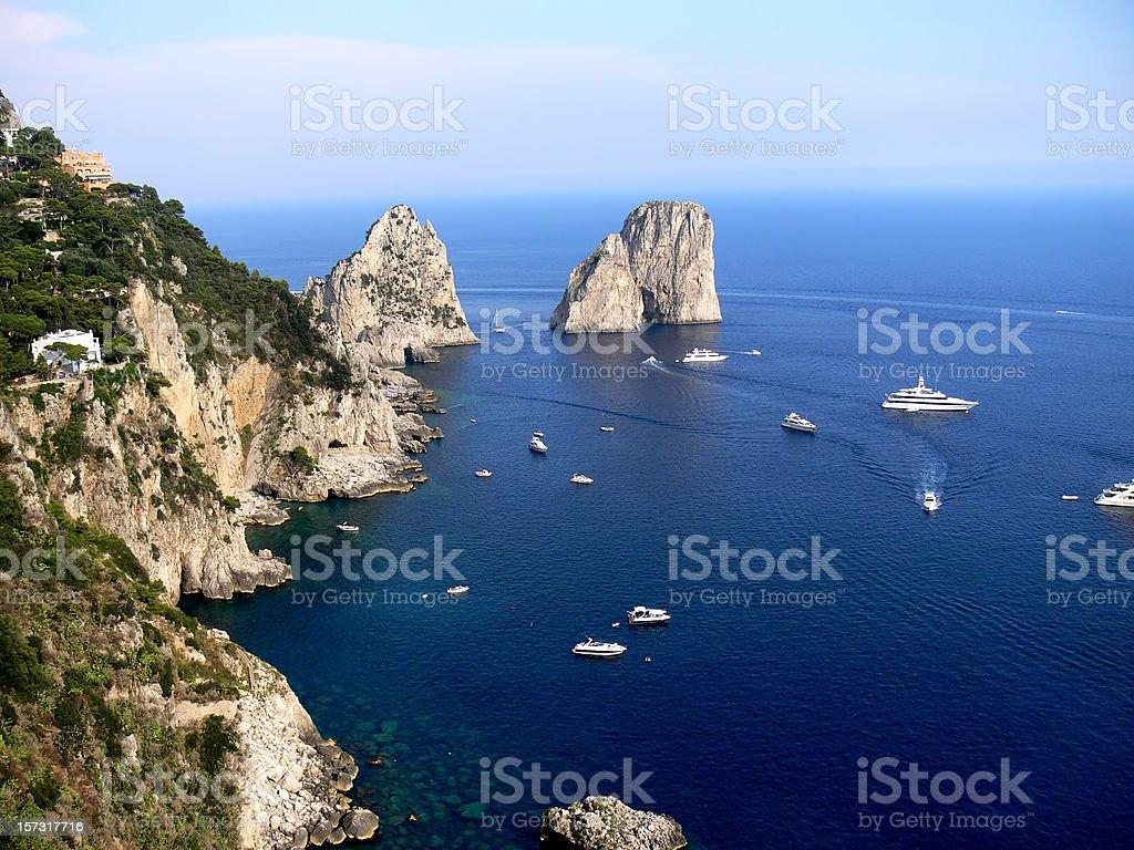 Farglioni in Capri royalty-free stock photo
