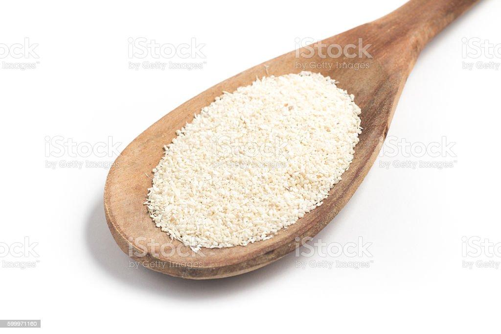 Farinha de Mandioca. Manioc. Cassava flour. Farofa stock photo