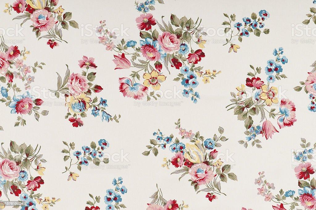 Farleigh Floral Medium Antique Fabric royalty-free stock photo