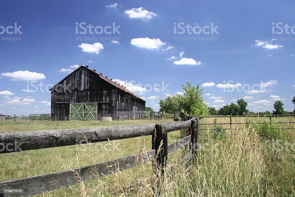Farm and Barn royalty-free stock photo
