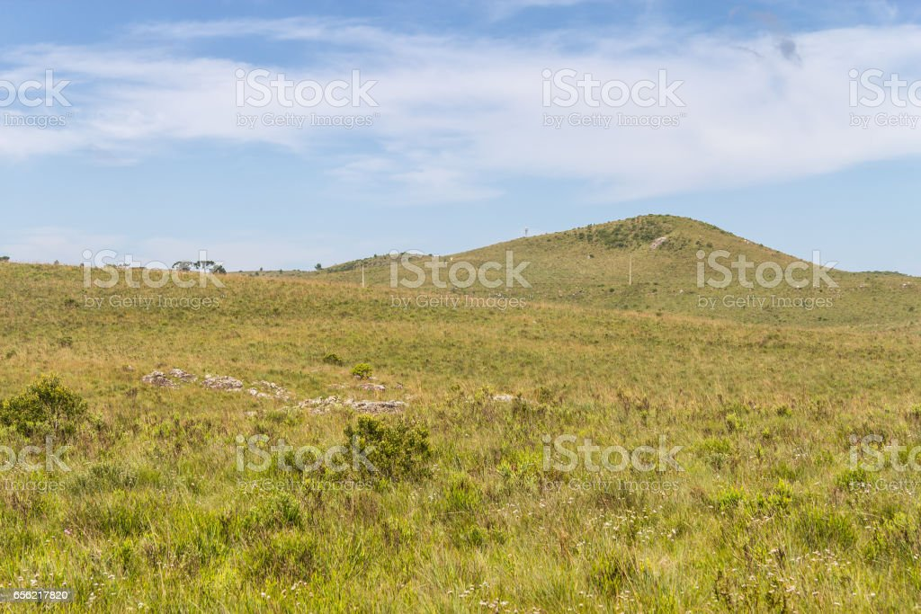 Farm at Itaimbezinho Canyon stock photo