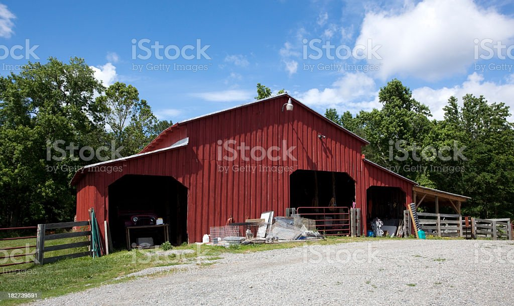 Farm Barn stock photo