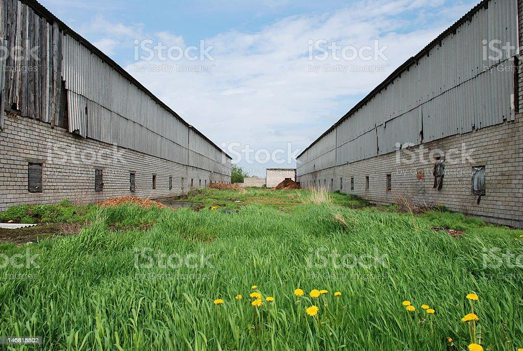 Farm building royalty-free stock photo