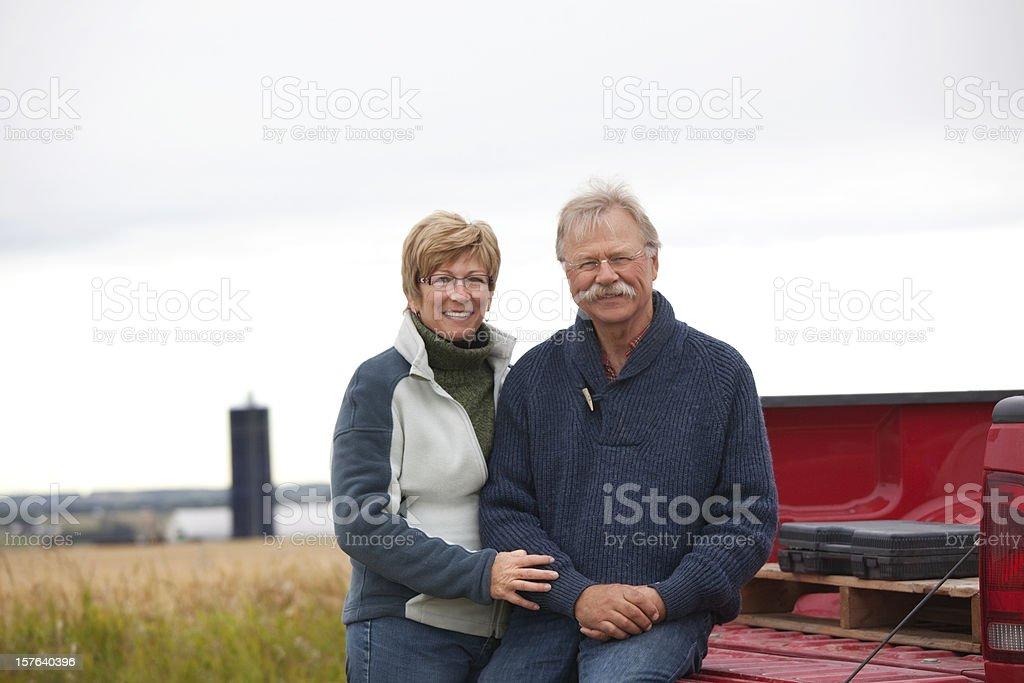 Farm Couple with Truck stock photo