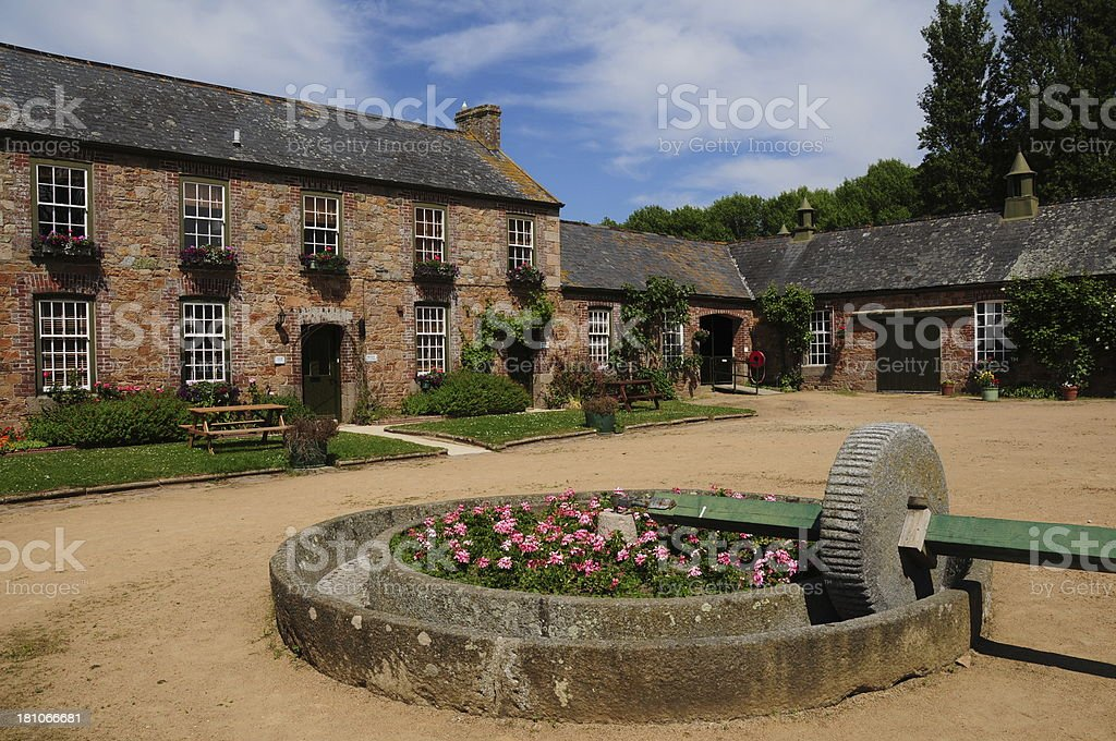 Farm courtyard, U.K. stock photo