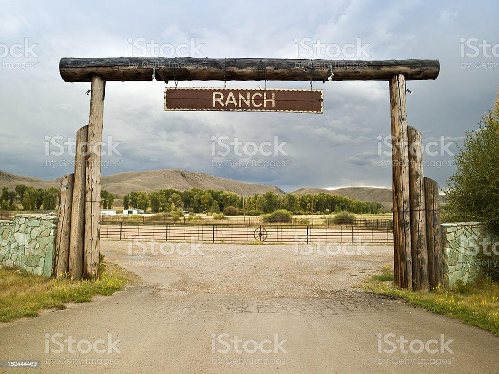 Farm driveway royalty-free stock photo