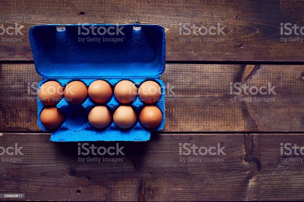 Farm eggs for Easter stock photo