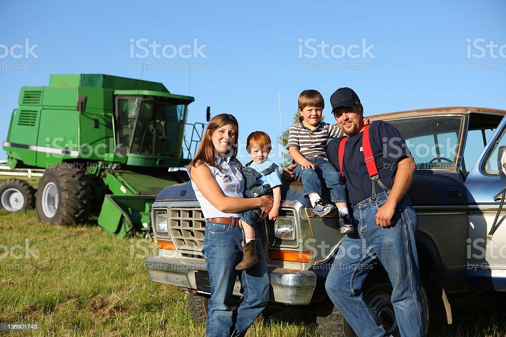 Farm family stock photo