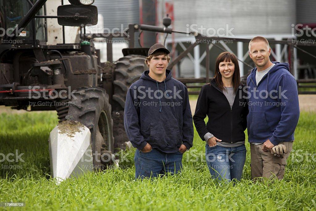 Farm Family royalty-free stock photo