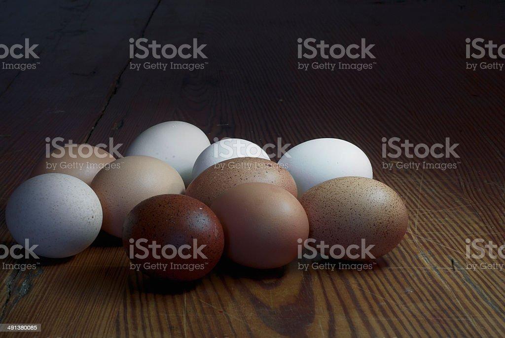 Farm Fesh Eggs - Light Painting royalty-free stock photo