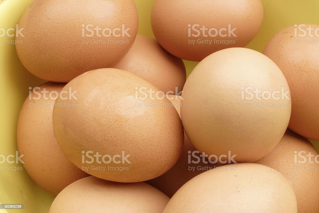 Farm fresh brown eggs royalty-free stock photo
