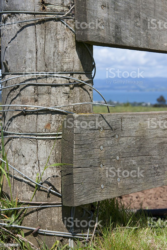 Farm Gate Close up royalty-free stock photo
