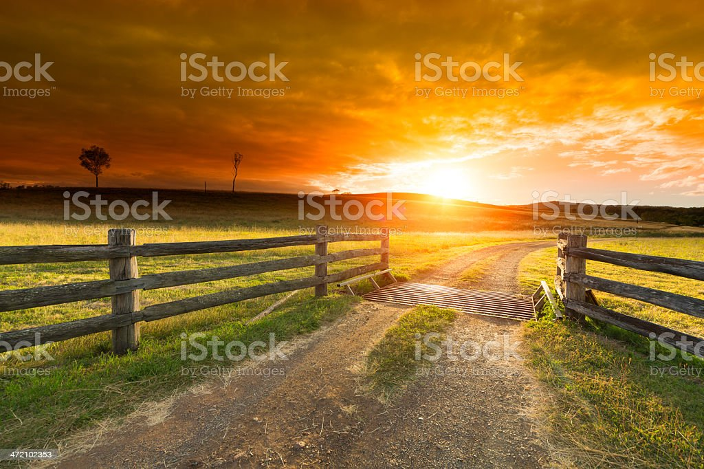 Farm Gate stock photo