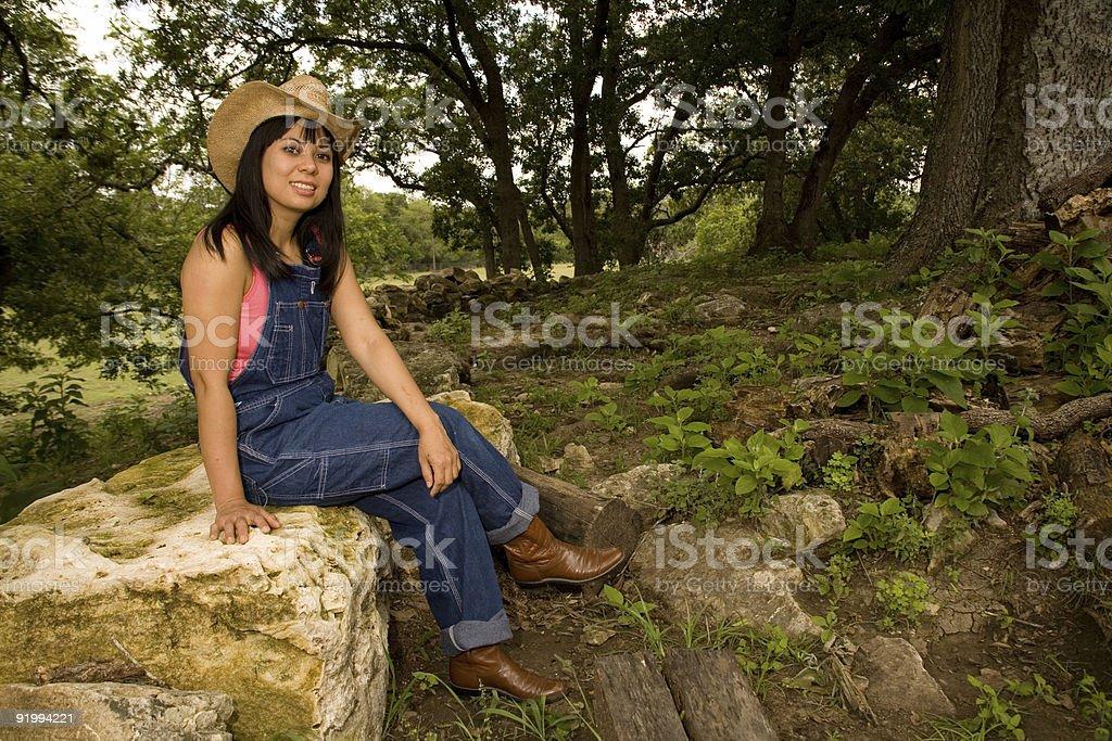 Farm girl. royalty-free stock photo