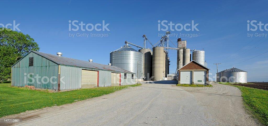 Farm Granary stock photo