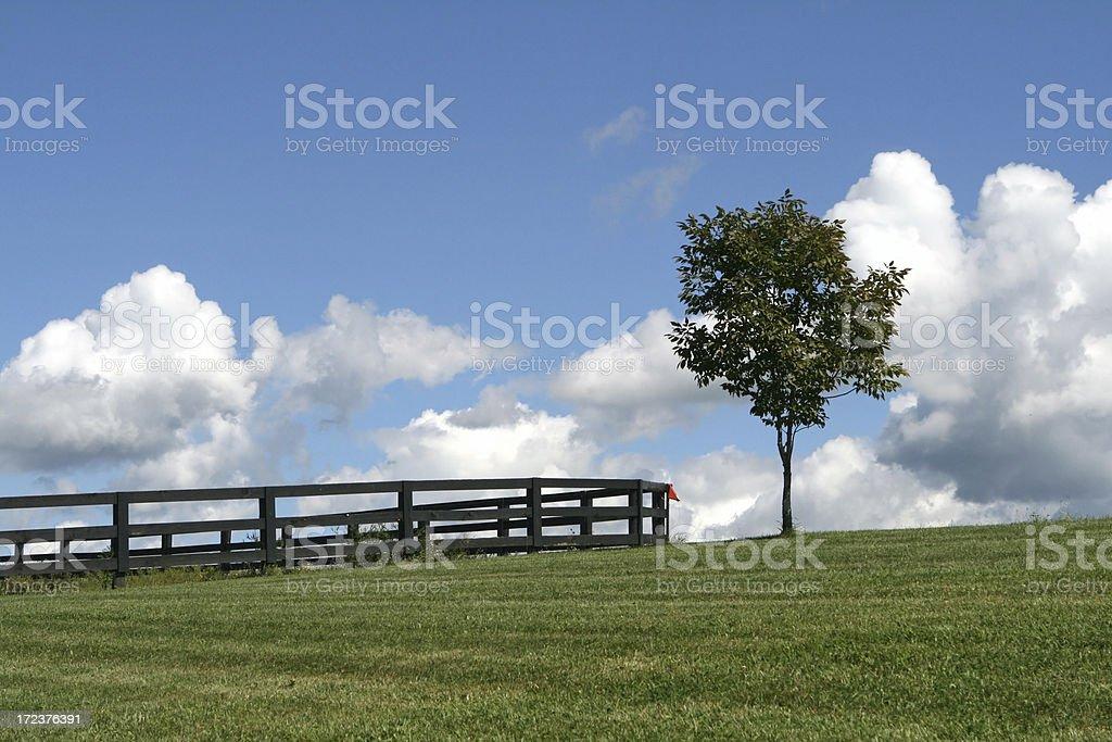 Farm Hill royalty-free stock photo