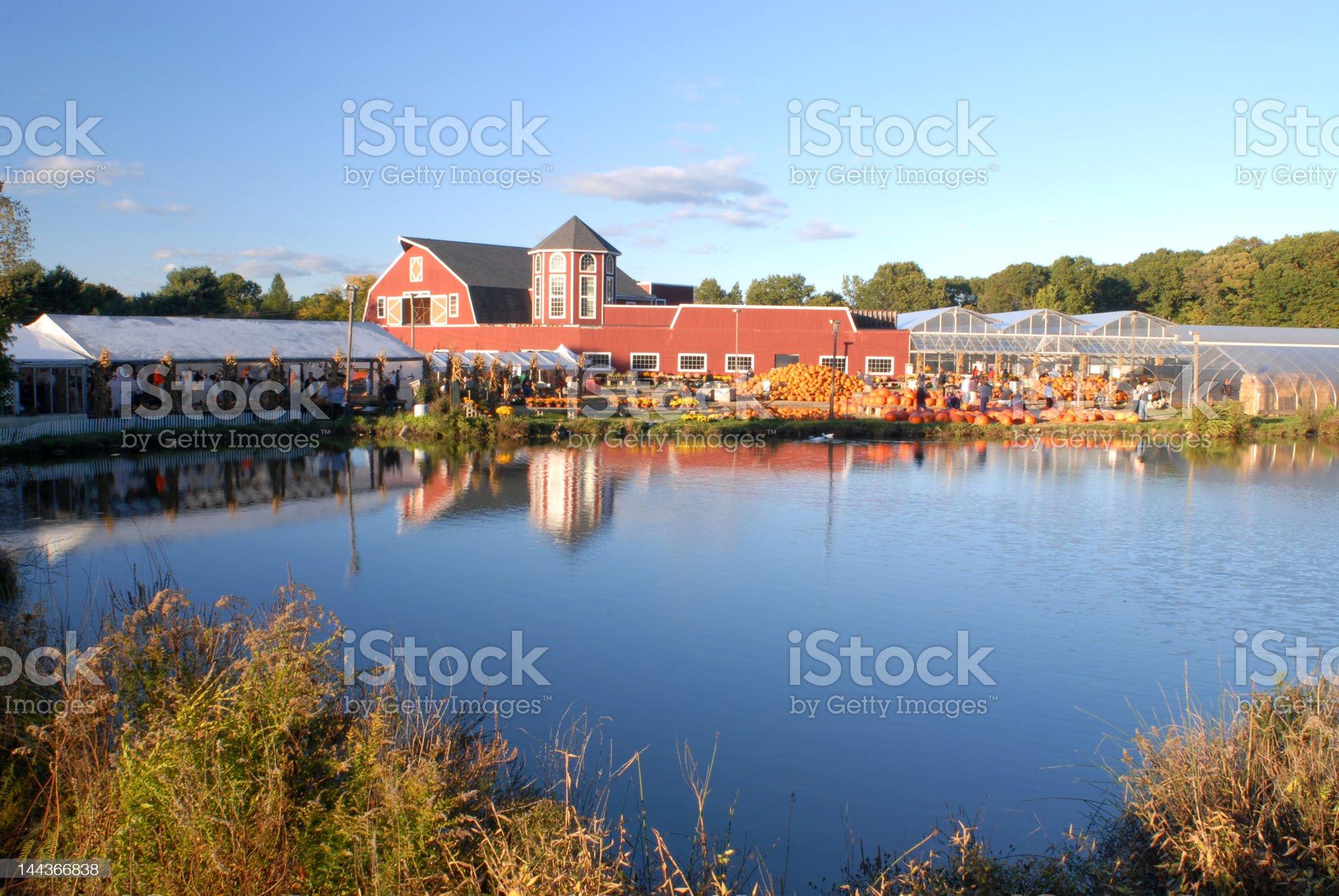 Farm House at Harvest II royalty-free stock photo