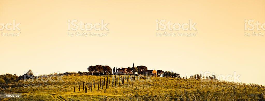 farm house in tuscany land royalty-free stock photo