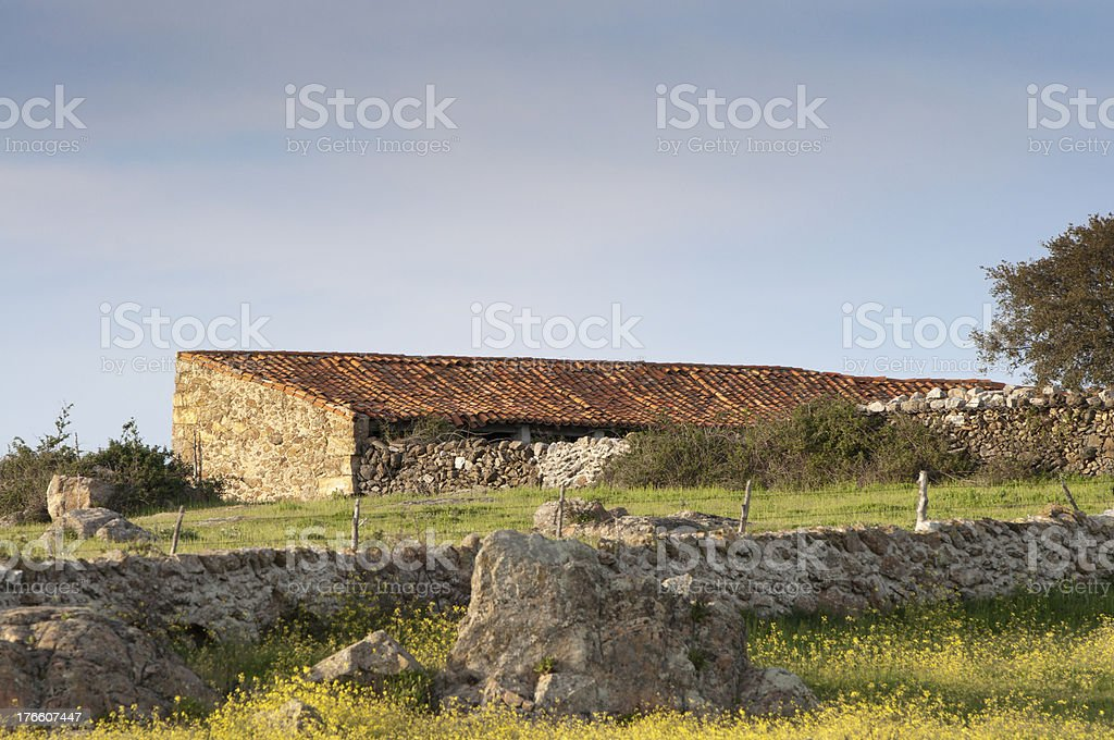 Farm house royalty-free stock photo