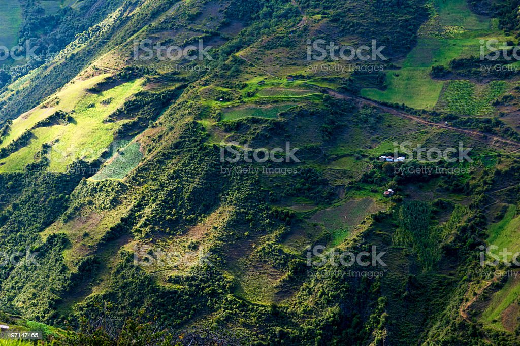 Farm houses in the Andes of Venezuela royalty-free stock photo