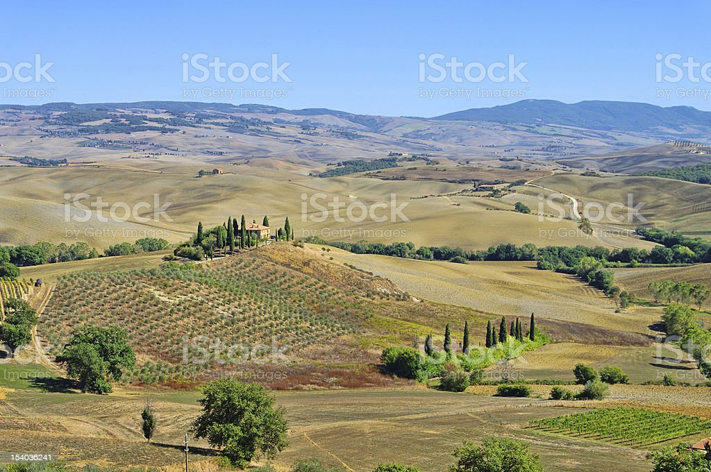 Podere in fall royalty-free stock photo