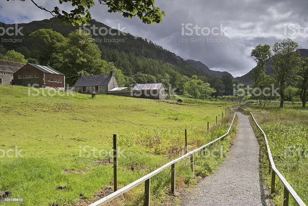 Farm in Flowerdale stock photo