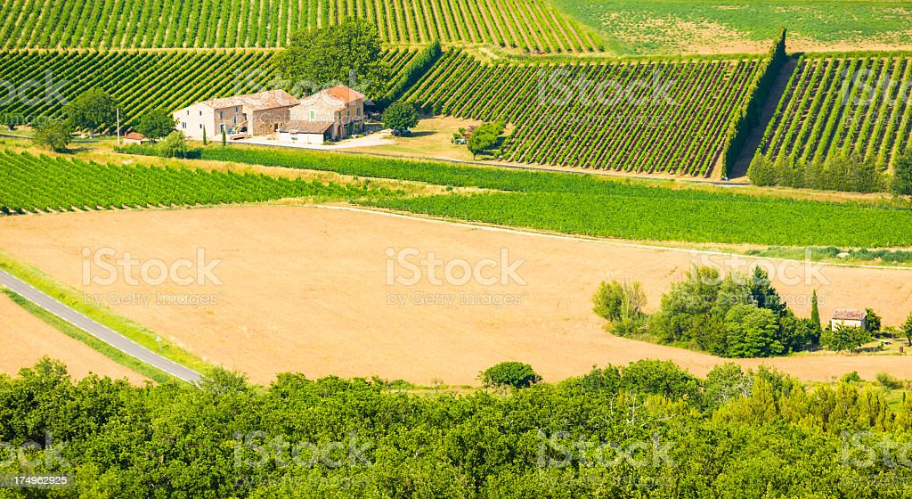 Farm in Provence, France royalty-free stock photo