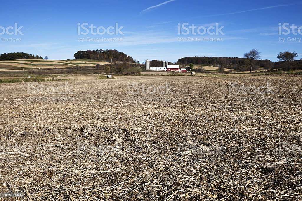 Farm  in Sauk County, Wisconsin, USA royalty-free stock photo