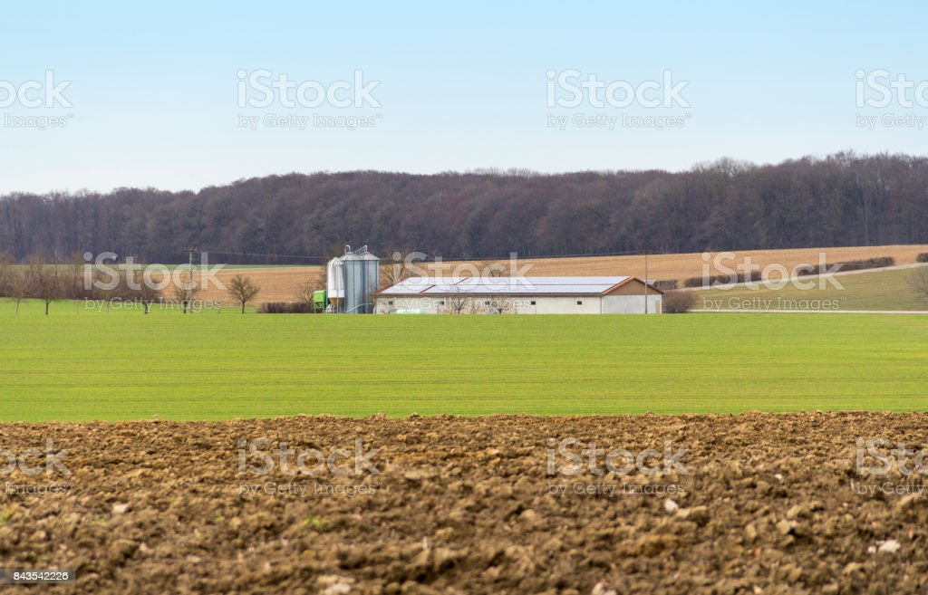 farm in Southern germany stock photo
