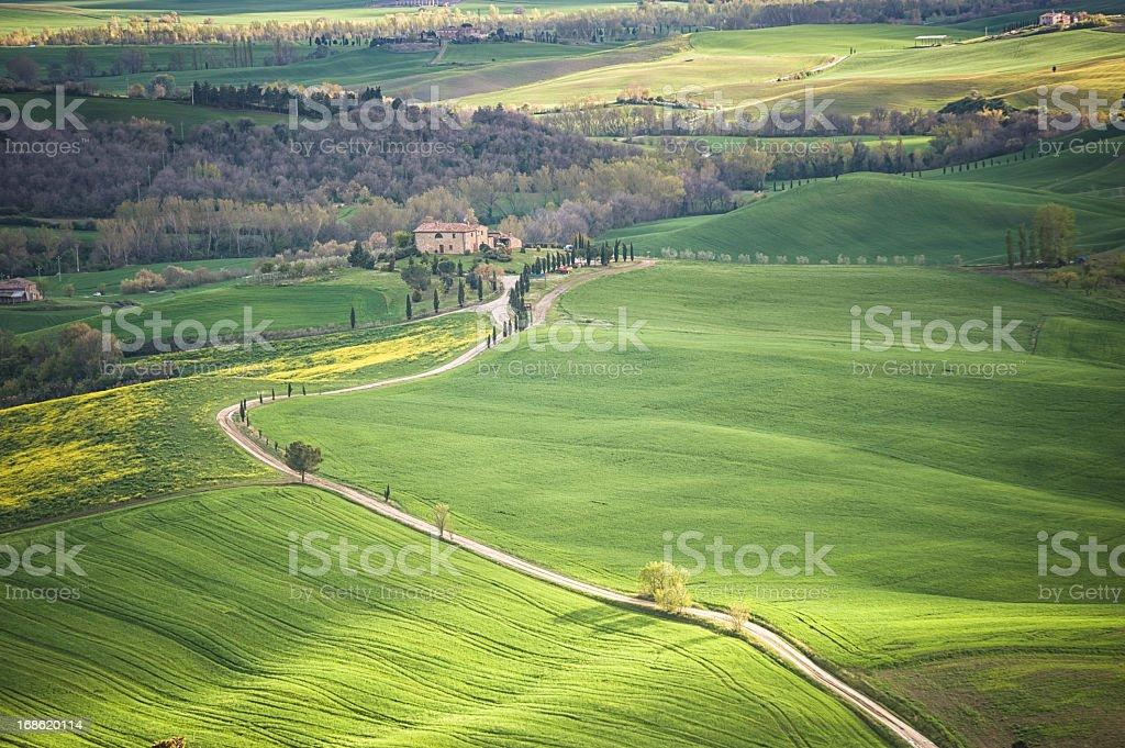 Farm in Tuscany royalty-free stock photo