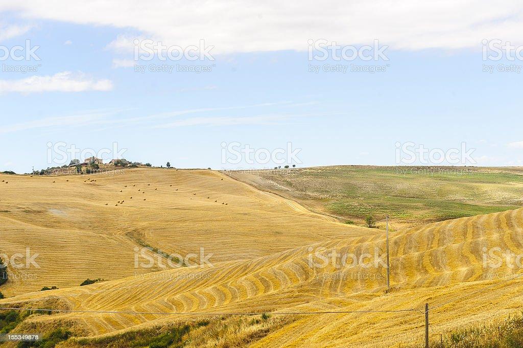 Farm in Val d'Orcia (Tuscany) royalty-free stock photo