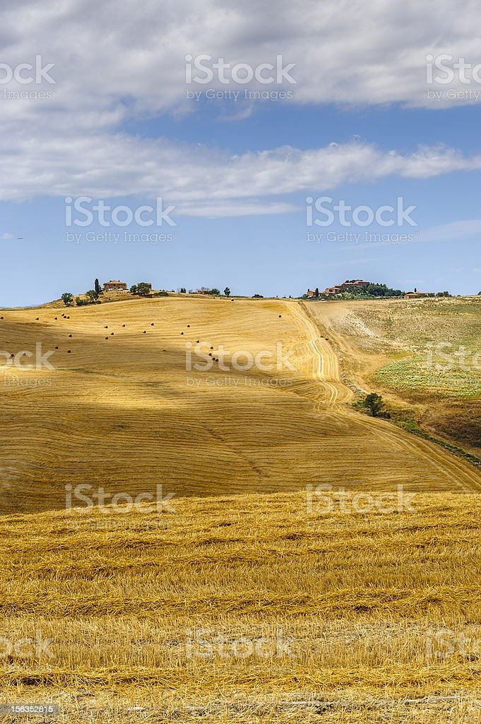 Farm in Val d'Orcia (Tuscany) royalty-free stock photo