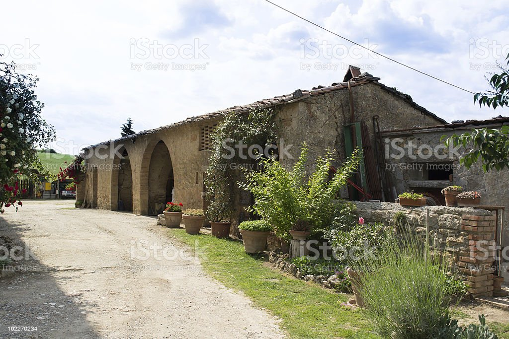 Farm in Val d'Orcia royalty-free stock photo