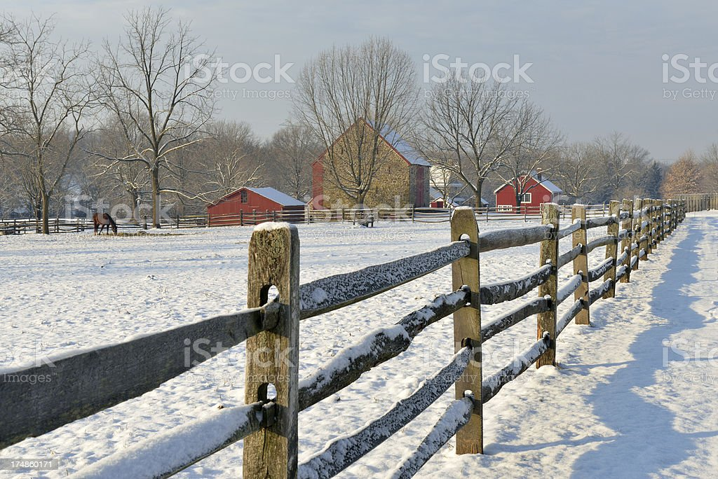 Farm in Winter royalty-free stock photo