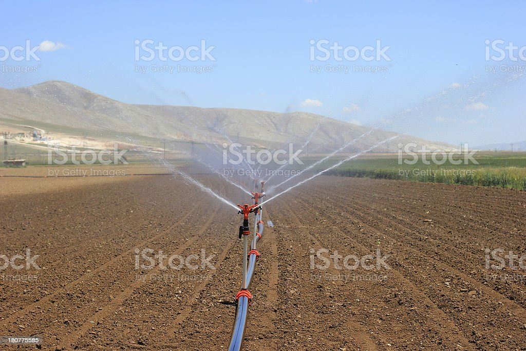 farm irrigation system stock photo