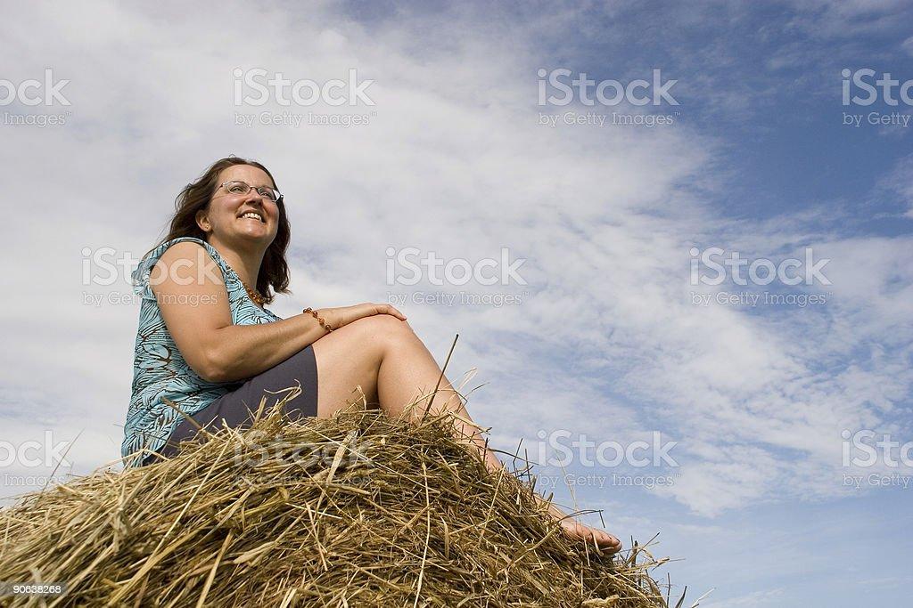 Farm lady stock photo