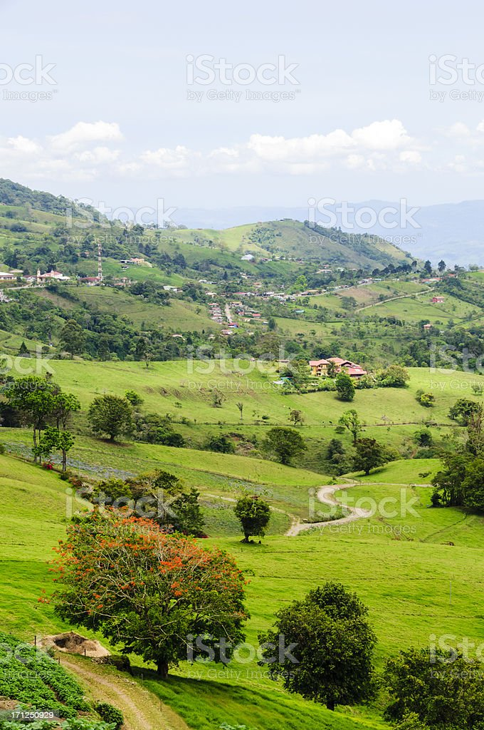 Farm land and rolling landscape royalty-free stock photo