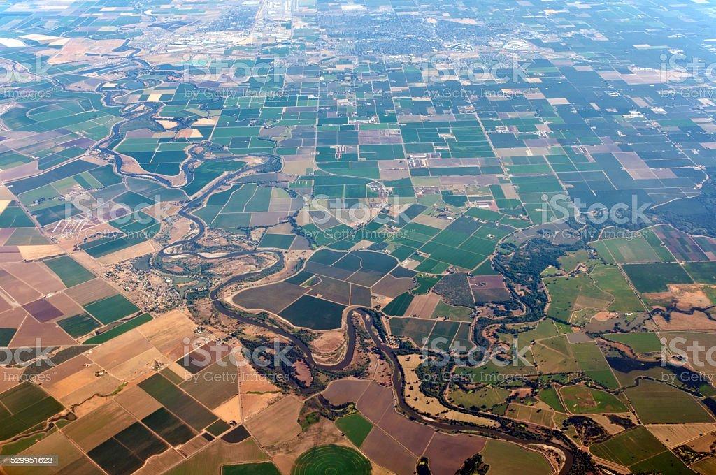 Farm land Colorado, USA stock photo
