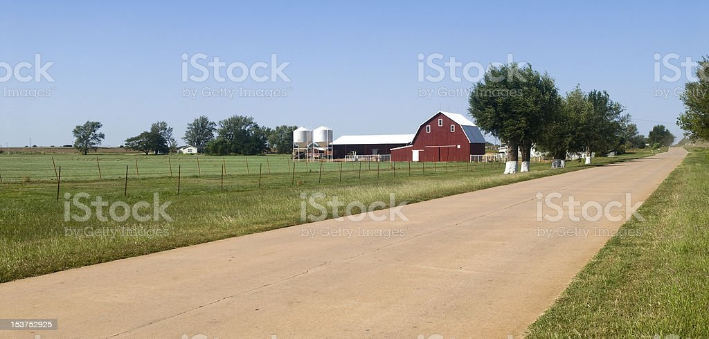 Farm land in Oklahoma stock photo