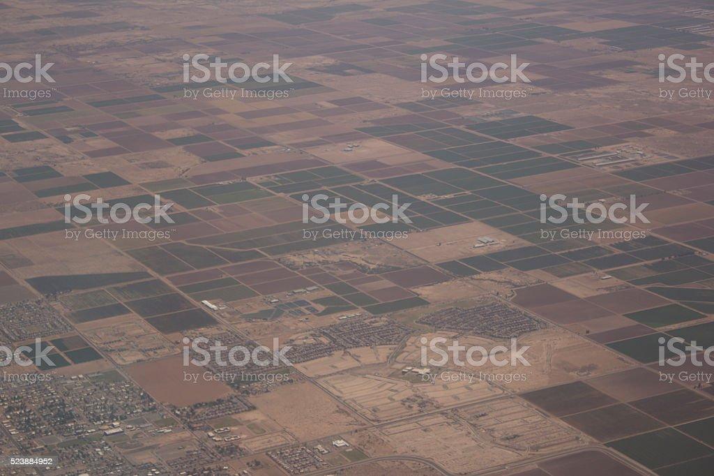 Farm land squares stock photo